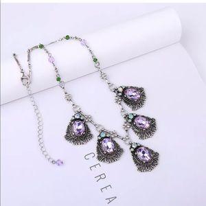 Jewelry - 💎 Stunning Fall Purple Silver Statement Necklace